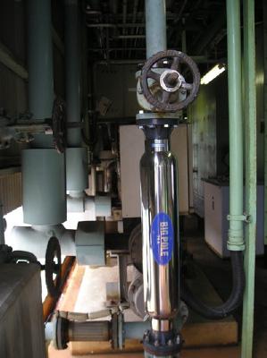 冷水冷却器の冷却水循環経路に高密度磁束活性水装置イメージ